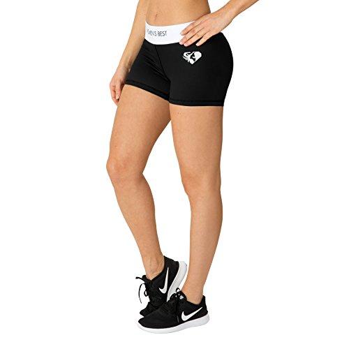 Kurze Sport-Hose für Damen in tollem Design | Bequeme Trainings-Hose und Fitness-Shorts für Frauen mit elastischem Bund und bequemen Schnitt für eine tolle Figur | WOMEN'S BEST – EXCLUSIVE SHORTS (M) (Shorts Womens Weiche)