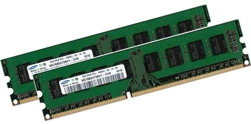 8GB Dual Channel Kit SAMSUNG Original 2 x 4 GB 240 Pin DDR3 1333 (1333Mhz, PC3 10600, CL9) Nicht ECC , Unbuffered (2x M378B5273BH1 CH9 ) Für DDR3  i3  i5  i7 Mainboards - Unbuffered-dual-channel