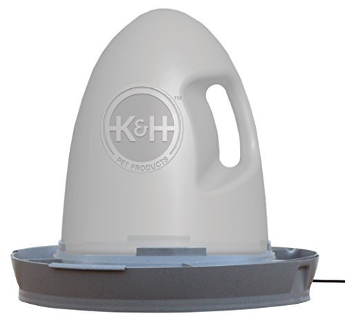 K&H Manufacturing 60W Thermo-Poultry Waterer, 2.5 gallon, Gray by K&H Manufacturing -