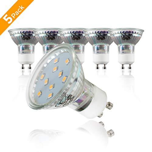 B.K.Licht LED Leuchtmittel I GU10 Lampenfassung I 5er Set 3 Watt LED Lampen I warm-weiß leuchtende Glühlampen I ersetzen 25 Watt Glühbirne I Reflektorform I 230 V (Lampen-set 3)
