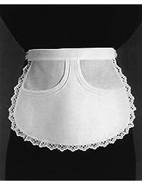 Leiber–02/62/01de delantal 100% algodón, color blanco