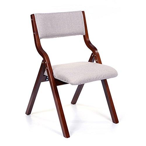 Folding Chair YAN SYF Schreibtisch Computer Aus Massivholz Baumwolle Und Leinen Rückenlehne Stuhl Klappstuhl Mode Klappsessel Esszimmerstuhl A+