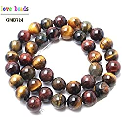 SMARTBUYER Wholesale Natural color Tiger Eye Stone Beads For Jewelry Making Pick Size 8MM BRACELET /Stone for Reiki Healing, Crystal Healing, Numerology, Tarot, Astrology, Vastu, Angle Healing & Feng Shui Natural Tiger's Eye Stone Gemstone Mala Bead Stretchy Bracelet Bangle Prayer Crystal Products Tiger Eye Round Bead 8mm Crystal Stone Bracelet