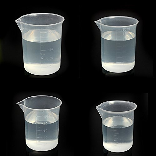 EgBert Labor Kitchen Test Kunststoffbecher Messung Cup 50 100 150 250Ml - 50Ml