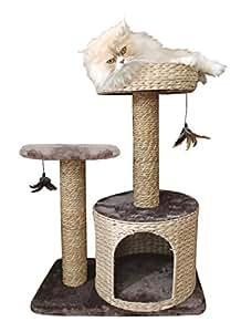 croci arbre chat natural larix 60x38x80 5 cm. Black Bedroom Furniture Sets. Home Design Ideas