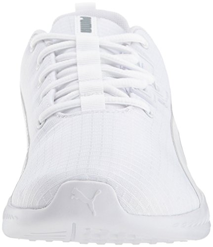 PUMA Women s Tishatsu Runner WN s Sneaker  White-Quarry  6 M US