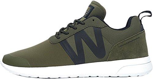Wesc Men's Men's Olive Running Shoes In Size 42 Green
