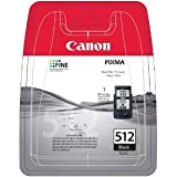 Original XXL Tinte Canon PG512 , PG-512 2969B001 , PG512BK - Premium Drucker-Patrone - Schwarz - 401 Seiten - 15 ml