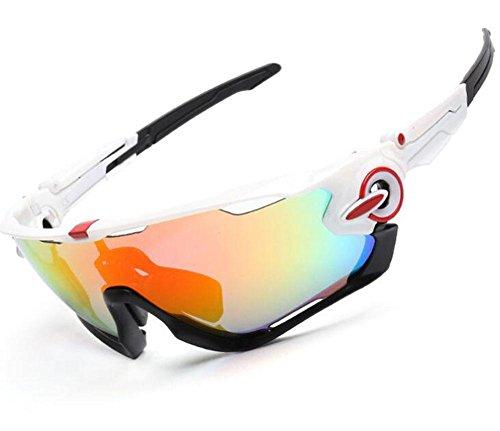 LLU Männer und Frauen Brille polarisierte Sonnenbrille im Freien Reiten Brille Sport drei Anzug, 5