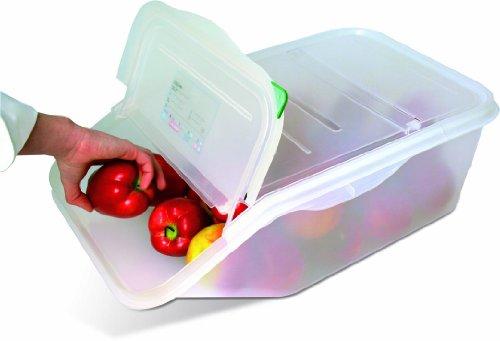 Vorratsbehälter Zutatenbehälter Vorratsbehälter Kunststoff einseitig aufklappbar 41,5 x 34 x 20 cm 16 Liter Inhalt