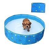 Yunhigh Hundebecken faltbar, Hundeschwimmbecken Badewanne PVC für kleine und mittlere Hunde Welpen...