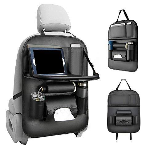 YFMXO Auto Rückenlehnenschutz, Auto Rückenlehnentasche Rücksitzschutz, Wasserdicht Autositzschoner Car Back Seat Cover Protector mit Speisetablett Halter Taschen (Cover Seat Auto)