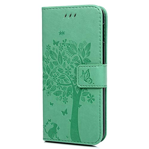Kompatibel mit Samsung Galaxy S10e Handyhülle Baum Muster Leder Tasche Handyhülle Flip Cover Schutzhülle Lederhülle Skin Bookstyle Ständer Handytasche für Samsung Galaxy S10e