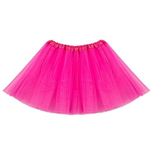 Tütü Damen Tüllrock Mädchen Ballet Tutu Rock Kinder Petticoat Unterrock Ballett Kostüm Tüll Röcke Festliche Tütüs Erwachsene Pettiskirt Ballerina Petticoat Für Dirndl Rosa Kind