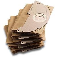 Karcher - Sachet filtre papier (x5) pour aspirateurs eau et poussieres - compatibible avec: de A2000 jusqu'a A2099 et WD2.000 jusqu'a WD2.399 ref 6.904-322.0