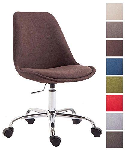 CLP Bürostuhl Toulouse mit Stoffbezug   Schreibtischstuhl mit Laufrollen   Drehstuhl mit Metallgestell in Chrom-Optik   Mit Farbwahl Braun