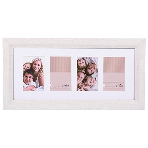 Goldbuch Galerierahmen, Milano, für 4 Bilder im Format 10 x 15 cm, Holz, Weiß, 900318