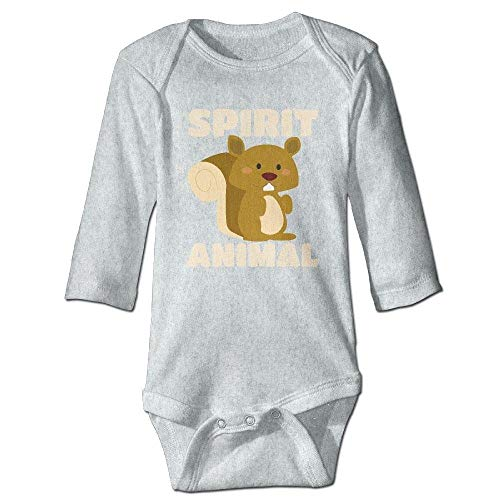 Mo Onesies (Baby's Squirrel Spirit Animal Long Sleeve Romper Onesie Bodysuit Jumpsuit)