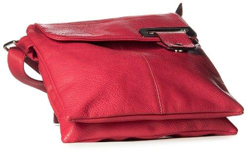 Big Handbag Shop mittelgroße Damen Schultertasche Cross Body Umhängetasche marineblau