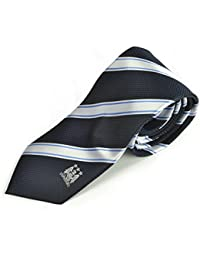 Manchester City MCFC Football Club Navy Blue Stripe Mens Tie Badge Official