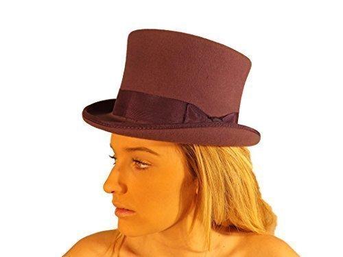 Campbell Cooper - Chapeau Haut de Haute Qualité Marron Noir Gris Violet Olive 57CM 58CM 59CM 60CM 61CM 62CM Violet