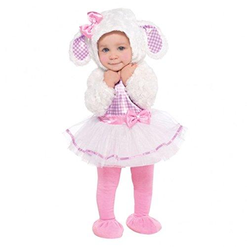 Lamm Kostüm Mädchen Kleinkind - Amscan 997540-997541Kostüm für Kleinkinder, kleines Lämmchen-Kostüm, für 12 - 18 Monate