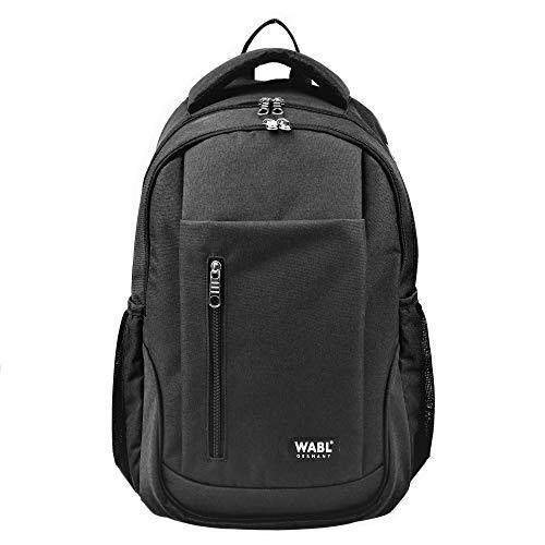 Rucksack gut gepolstert für Schule, College, Studium und Business, Laptopfach Notebook und Kopfhöreröffnung - 20 Liter (schwarz)
