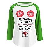Weihnachten Kleidung Dasongff Damen Weihnachten Bluse Oberteil Alphabet drucken Pullover Sweatshirt Lose Rundhals Langarmshirt Tops Shirts …