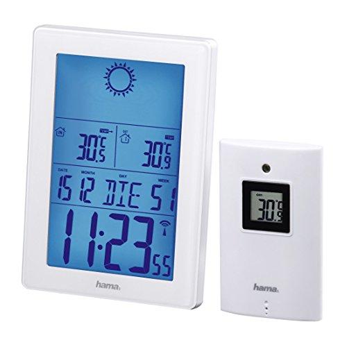 Hama Station météo radio avec capteur extérieur (avec horloge radio, réveil, thermomètre, 50 m...