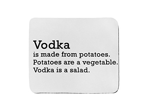 Preisvergleich Produktbild Mousepad von Wodka aus Kartoffeln. Kartoffeln sind eine Gemüse. Wodka ist ein Salat