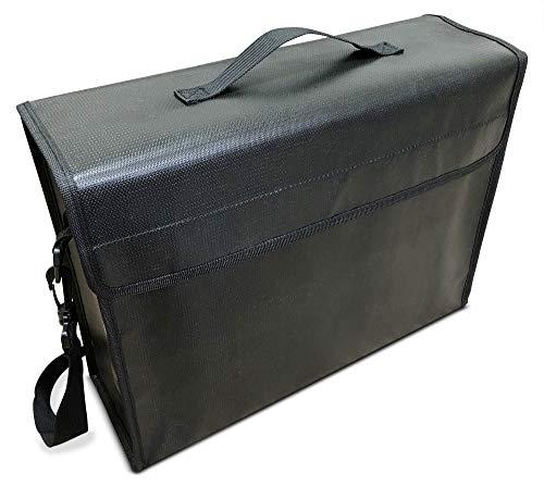 """SlayMonday Große (15""""x 12"""" x 5"""") feuerfeste Tasche (2000 ° F) für Dokumente und Geld - starker Doppelschicht-Wärmeschutz"""