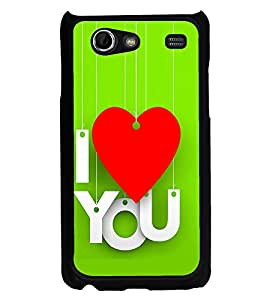 PrintVisa Wind Chime Heart High Glossy Designer Back Case Cover for Samsung Galaxy Advance i9070
