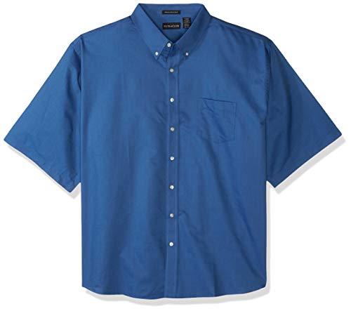 UltraClubs ULTC-8972 Herren Oxford, klassisch, knitterfrei, kurz, Größe S, Farbe: French Blue - Klassisches Oxford-hemd Knitterfrei