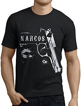 1/4 Mile Kult™ CAMISETA/T-SHIRT NARCOS Pistola Pablo Escobar