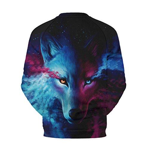 Cosstars Unsiex 3D Imprimé Galaxy Pullover Sweatshirt T-shirts Tops à manches longues Multicolore