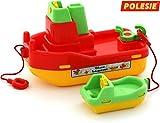 polesie 41227 Schlepper mit Beiboot