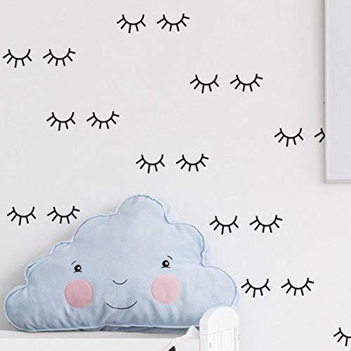 Kinderzimmer Schlafzimmer Wohnzimmer Wandaufkleber niedliche Augenhaaraufkleber, PVC selbstklebende wasserdichte entfernbare Aufkleber, 5cm_5cm