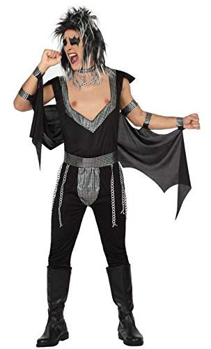 Atosa- Disfraz hombre estrella rock, Color negro, M-L (26612)