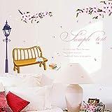 KLBNFTXMK Romantische Kirsche Wandaufkleber Aufkleber Wandaufkleber Wohnkultur Wandkunst 75 * 98 cm