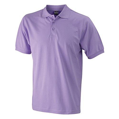 JAMES & NICHOLSON Hochwertiges Polohemd mit Armbündchen Lilac