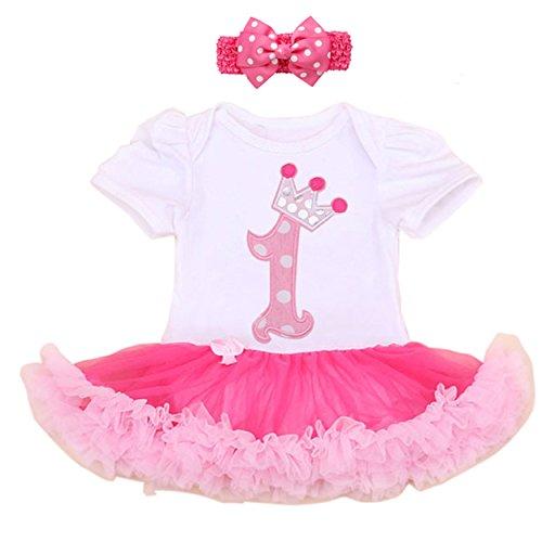 Vestido infantil de los bebés 1er equipo del partido de cumpleaños con la venda (L:(6-12 meses))