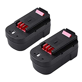 2 Pieces 18V 3.0Ah Ni-MH Replacement Battery for Black & Decker HPB18 HPB18-OPE A1718 A18NH A18 Firestorm A18 FS180BX FS18BX FS18FL FSB18 244760-00