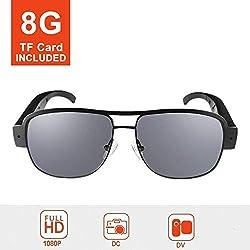 Mofek 8Go Full HD 1080p Spy Camera Mode Lunettes de soleil 1920* 1080Caméra de surveillance Spy Caméra cachée vidéo Cam DV DVR