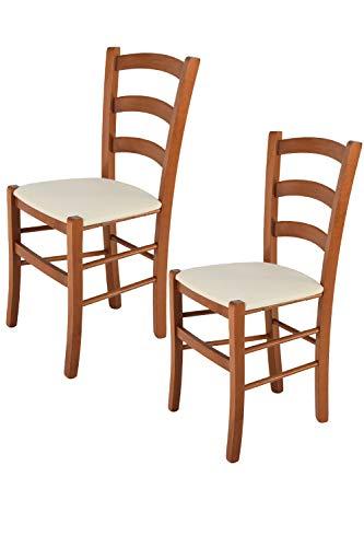 Tommychairs - Juego de 2 sillas clásicas Venice para Cocina, Bar y...