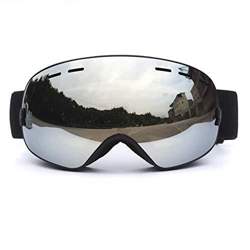 JXS-Goggles 2-Layer Skibrillen, Anti-Nebel und Anti-Glare Anti-Stun können für Myopie verwendet Werden,B