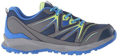 Merrell Capra Bolt Lace Waterproof, Chaussures de Randonnée Basses Garçon Multicolore (NAVY/CITRON)