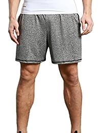 Elonglin Homme Shorts de Sport Elastique Shorts Sportif Séchage Rapide Respirant Pour Gym Fitness Jogging