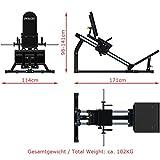 MegaTec Compact Legpress Beinpresse / Hackenschmidt mit 50 mm Scheibenaufnahme - 9