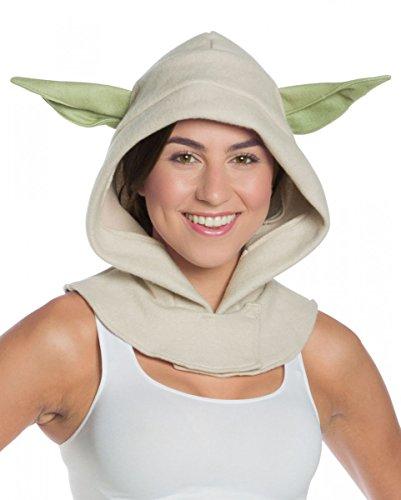 Lizenzierte Star Wars Yoda Kapuzen-Mütze als Kostümzubehör