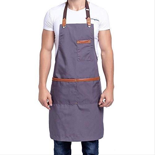 Tischler Bib (leihao888 Kochen Leinwand Küchenschürze Für Frau Männer Chef Cafe Shop BBQ Schürzen Benutzerdefinierte Logo Backen Restaurant BibL)